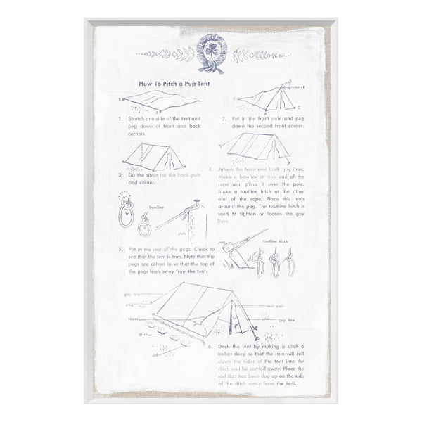 crown and birch girl scouts how to pitch a tent