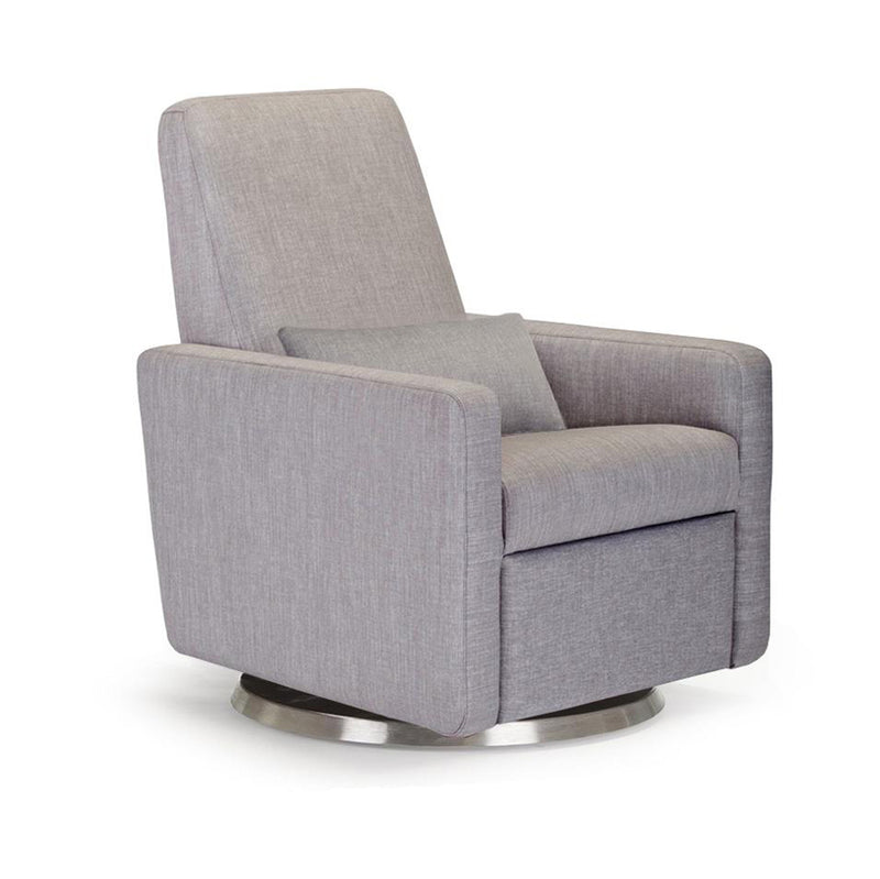 crown and birch monte design grano glider recliner pebble grey angle