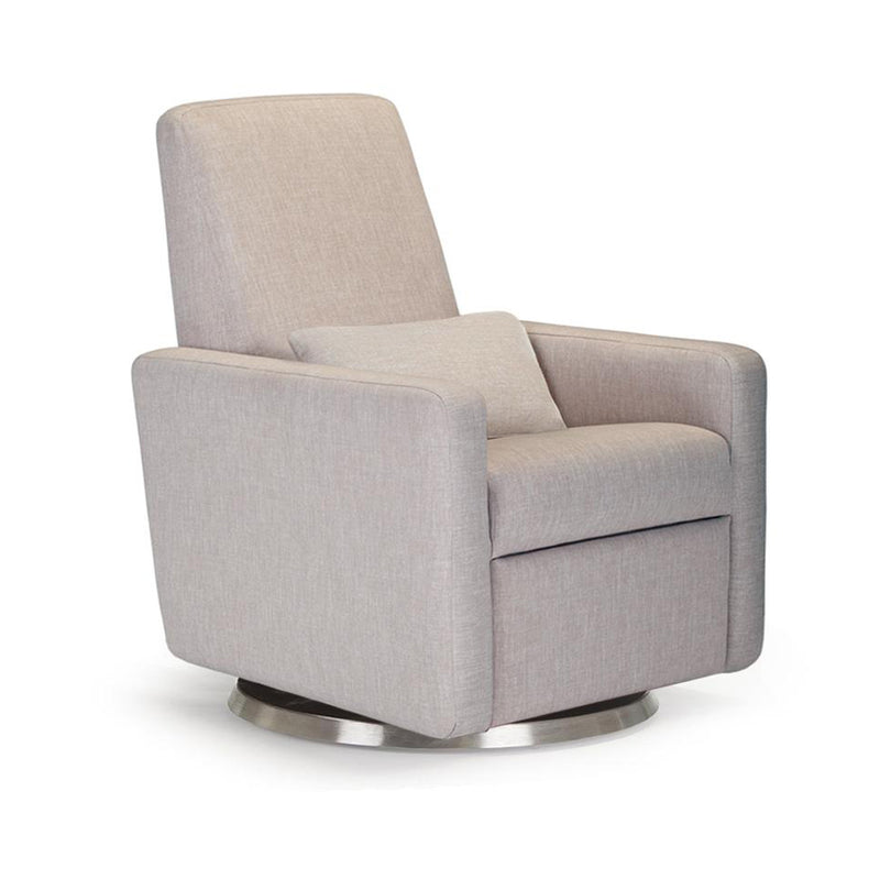 crown and birch monte design grano glider recliner sand angle