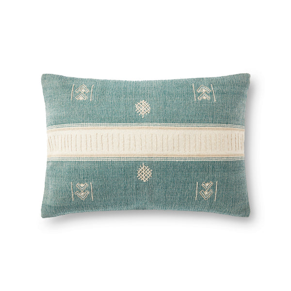crown and birch green natural pillow front