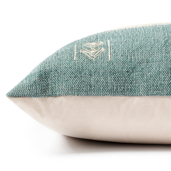 crown and birch green natural pillow side