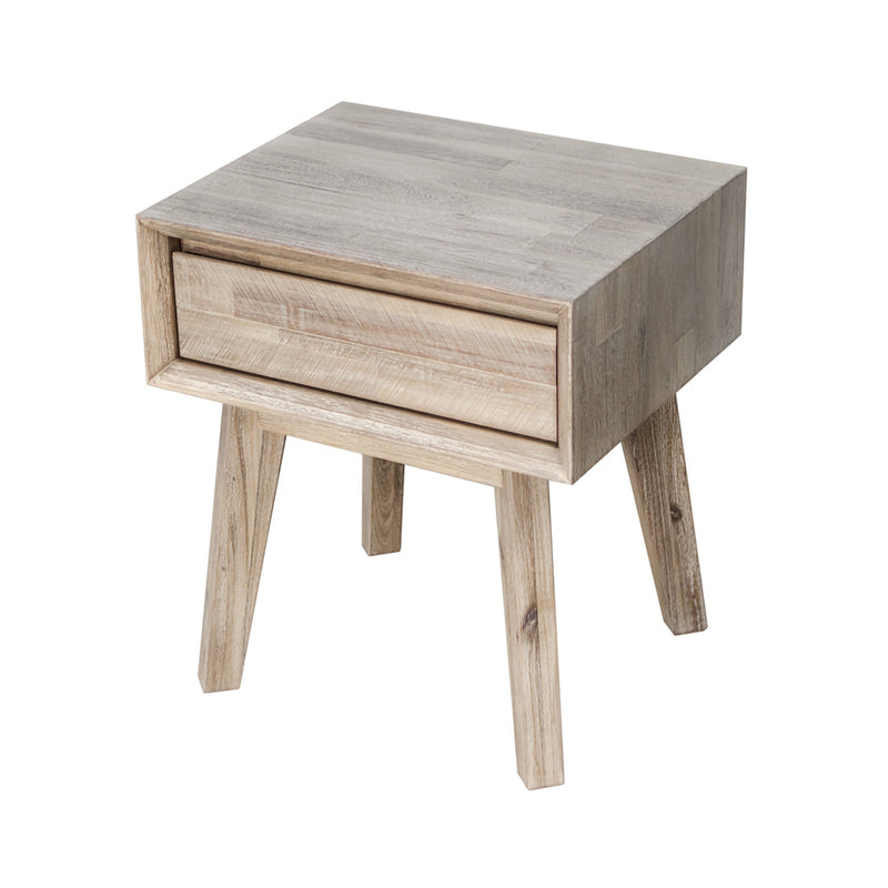 crown and birch gretta one drawer nightstand angle two