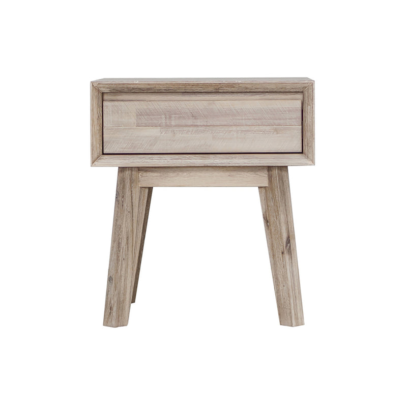 crown and birch gretta one drawer nightstand front