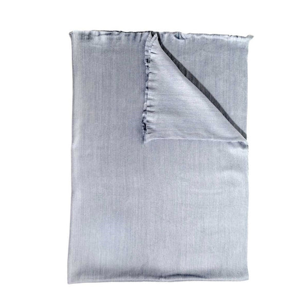 crown and birch grey fringe throw front