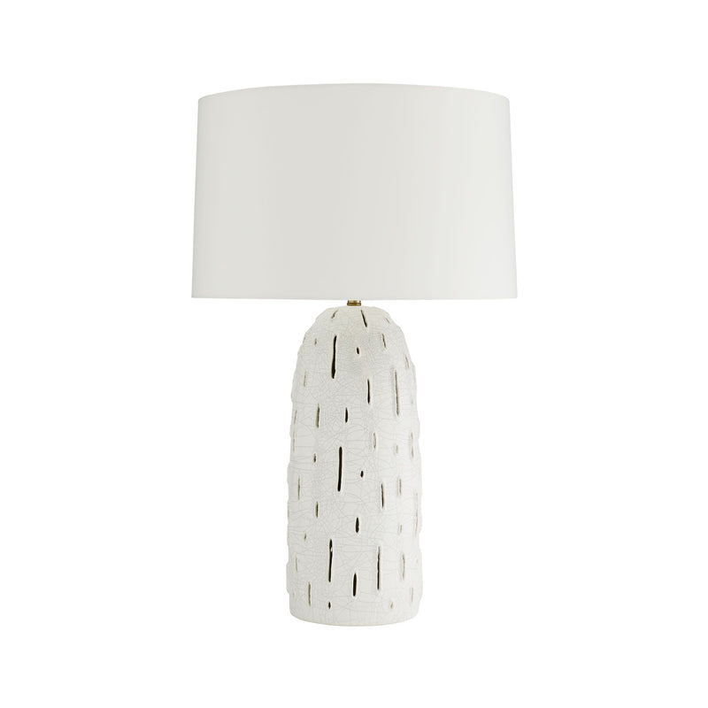 crown and birch grove table lamp front