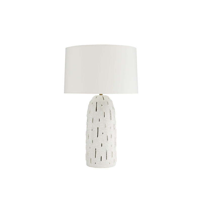 crown and birch grove table lamp light off