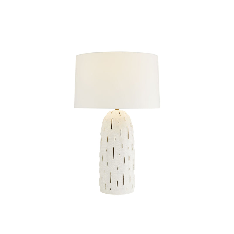 crown and birch grove table lamp light on