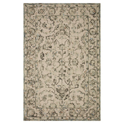 crown and birch hailee rug loloi halle grey sky front