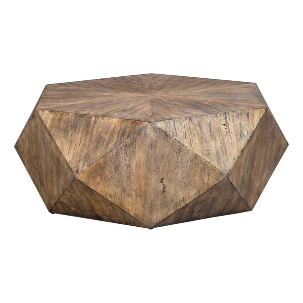 crown and birch honey geometric mango coffee table front