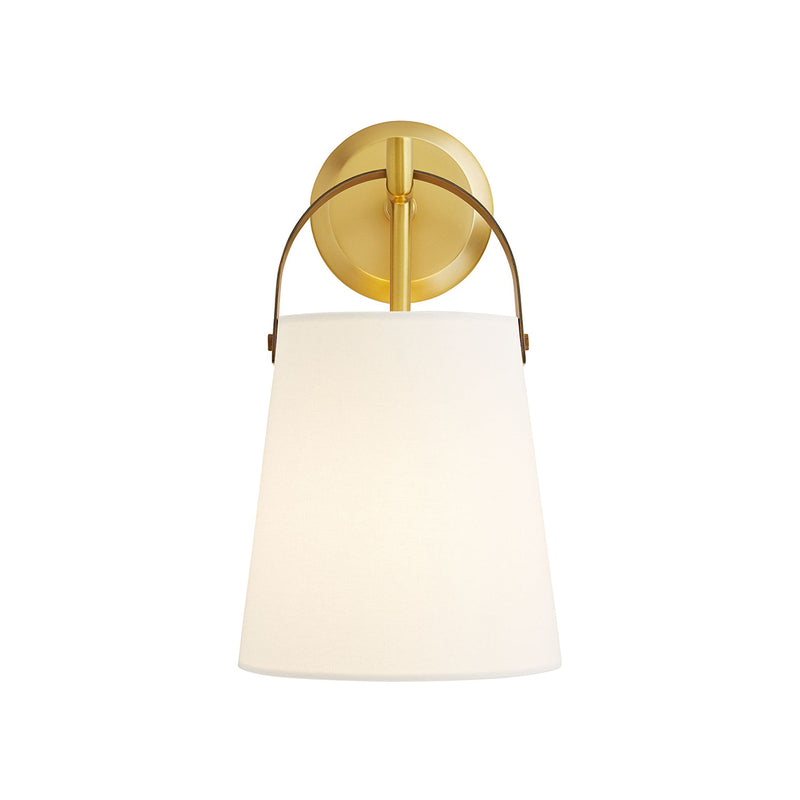 crown and birch iam sconce antique brass on