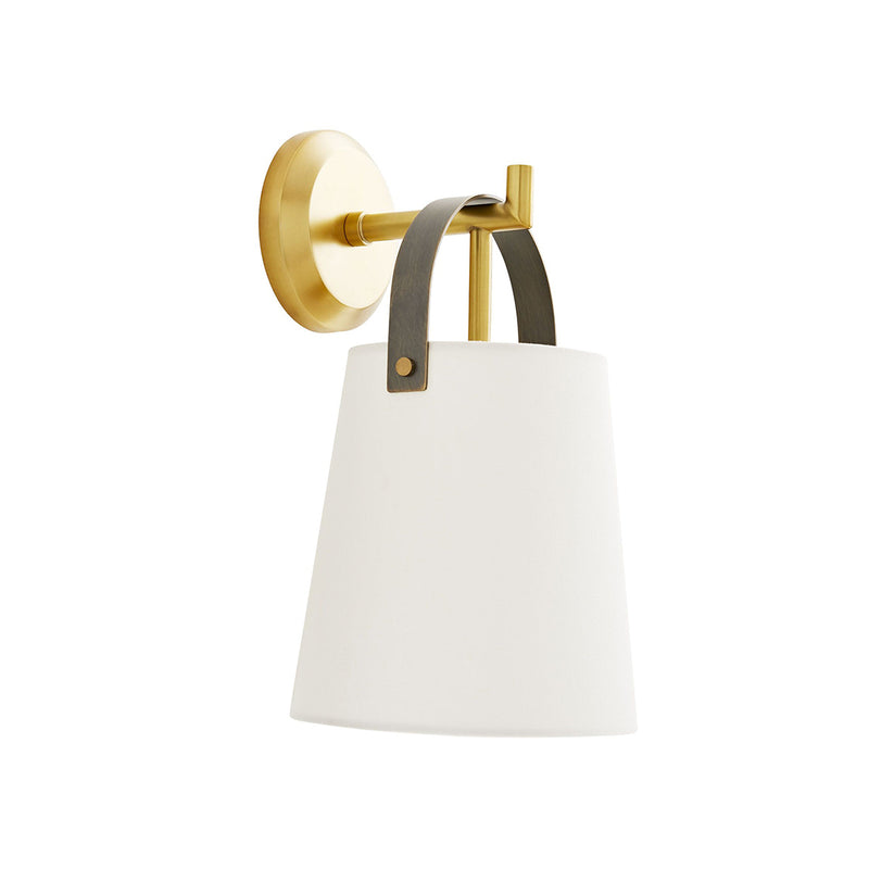 crown and birch iam sconce antique brass angle