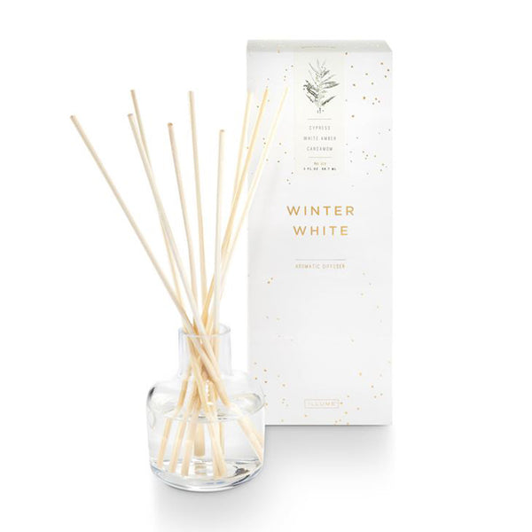 crown and birch illume winter white diffuser front