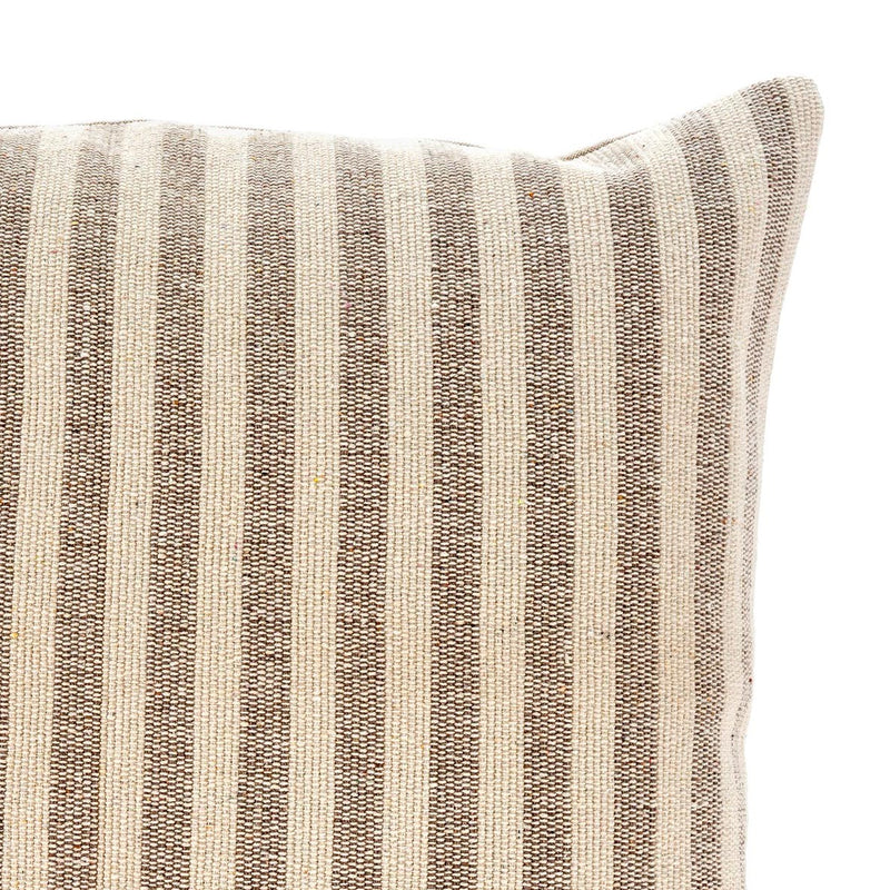 crown and birch ingram stripe pillow detail
