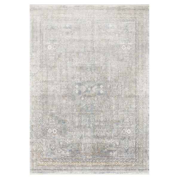 crown and birch jenna rug silver multi front loloi gemma