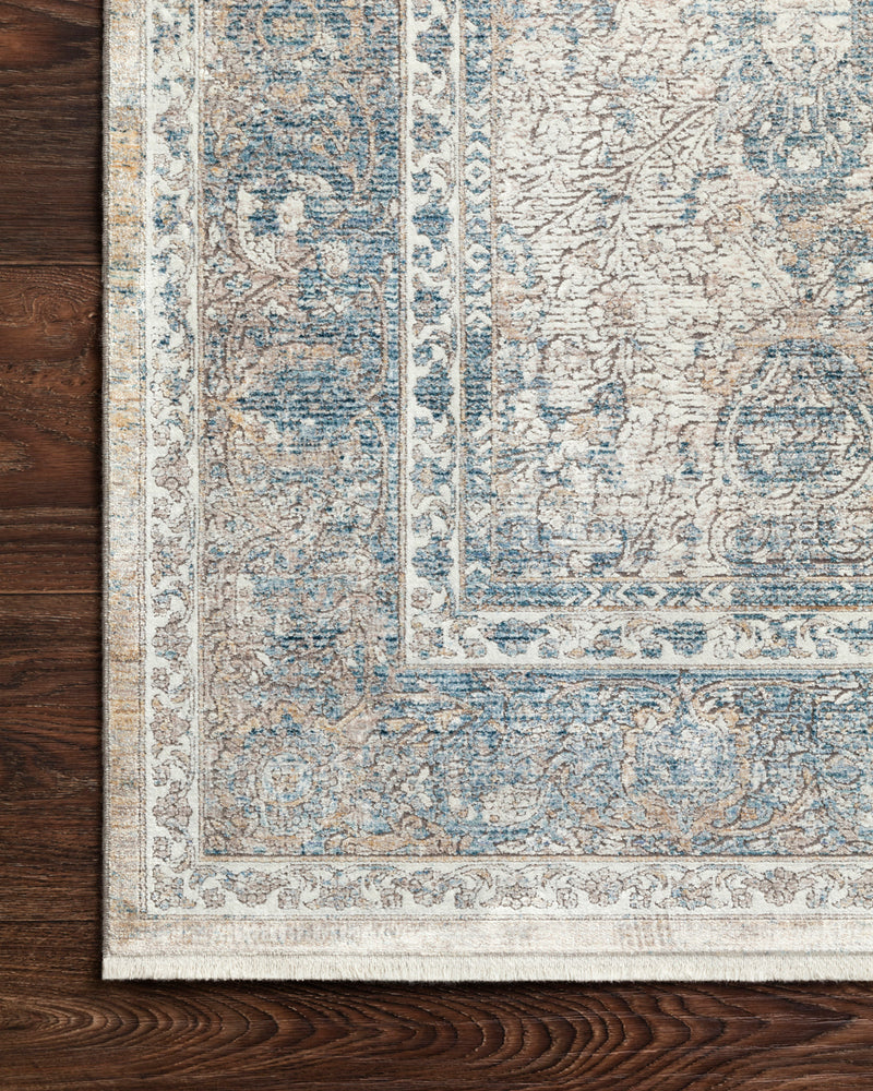crown and birch jenna rug sky ivory detail loloi gemma