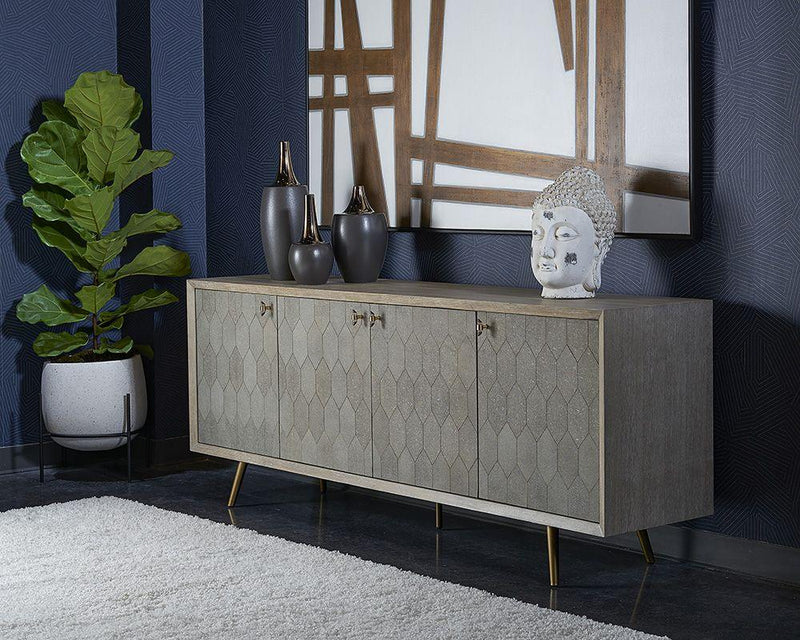 crown and birch jennifer sideboard grey scene