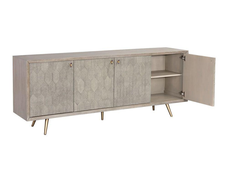 crown and birch jennifer sideboard grey side open