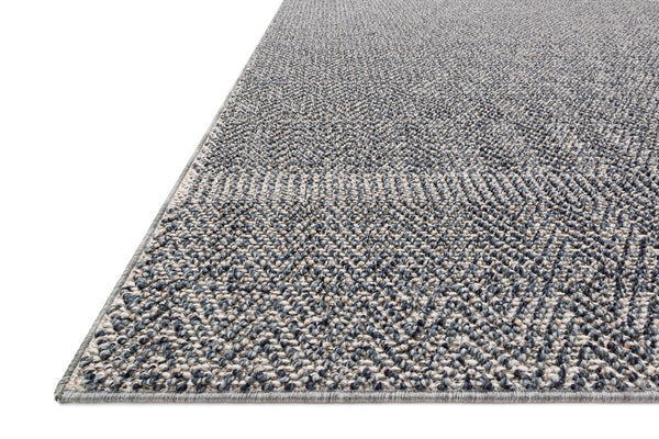 crown and birch kal rug denim grey detail