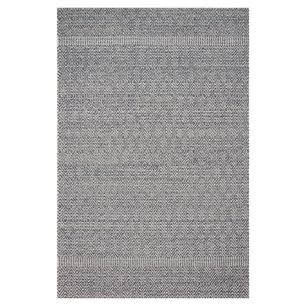 crown and birch kal rug denim grey front