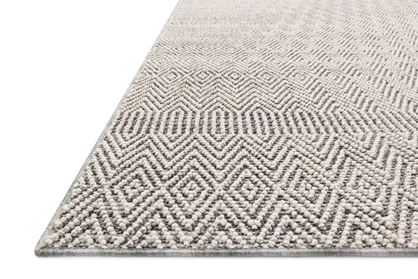 crown and birch kal rug grey bone detail