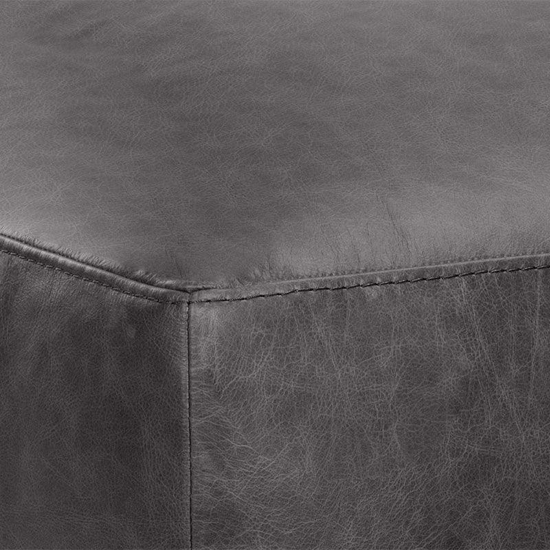 crown and birch kaleo ottoman black leather detail