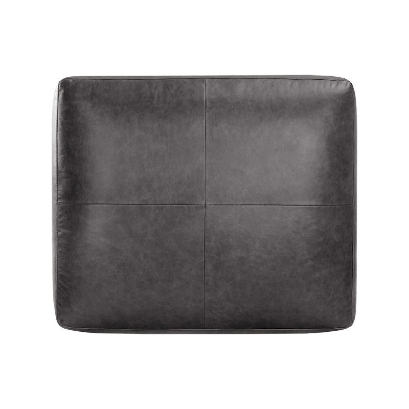 crown and birch kaleo ottoman black leather top