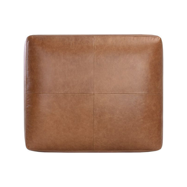 crown and birch kaleo ottoman camel leather top