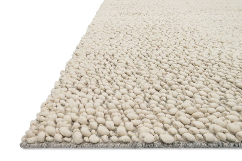 crown and birch kware rug ivory detail
