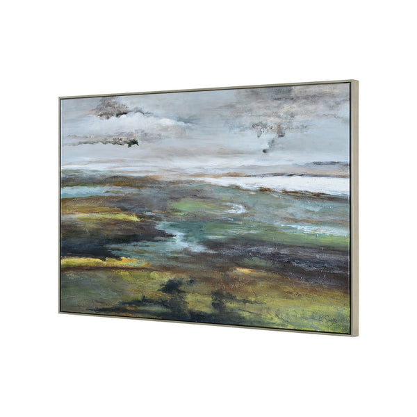 crown and birch land and sky canvas angle