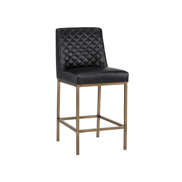 crown and birch leigh counter stool coal black angle