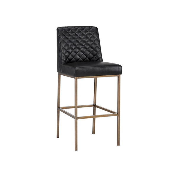 crown and birch leigh bar stool coal black angle