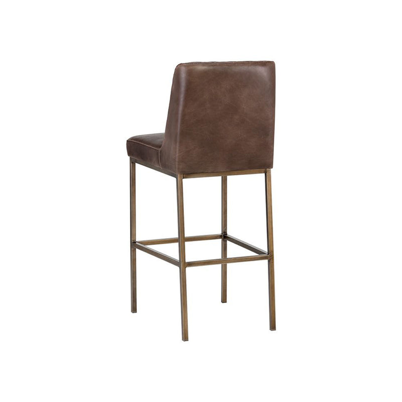 crown and birch leigh bar stool dark brown back