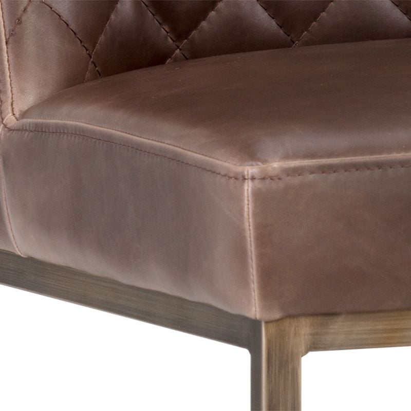 crown and birch leigh bar stool dark brown detail