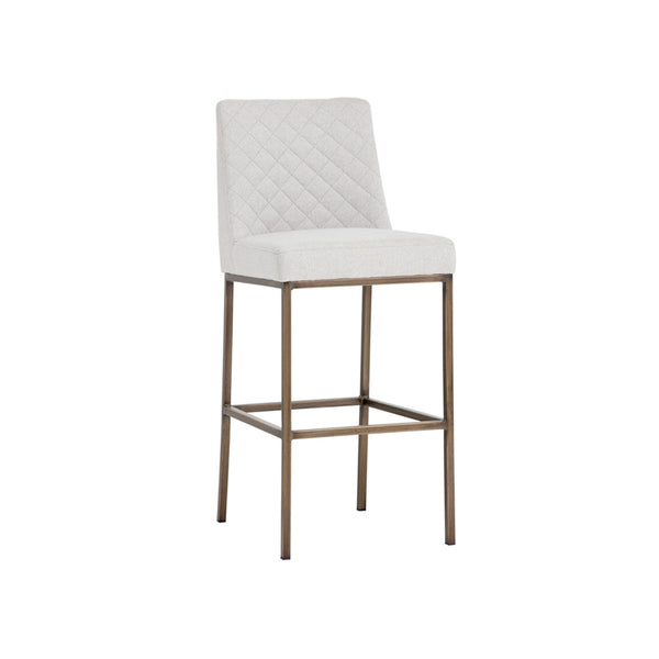 crown and birch leigh bar stool light grey angle