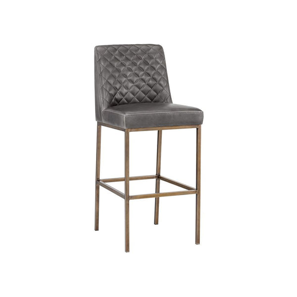crown and birch leigh bar stool overcast grey angle