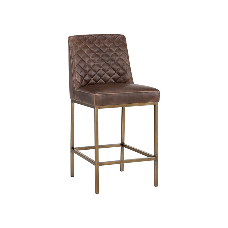 crown and birch leigh counter stool dark brown angle