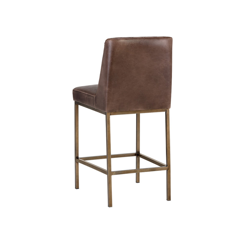 crown and birch leigh counter stool dark brown back