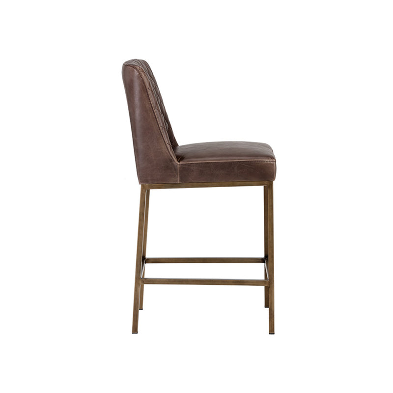 crown and birch leigh counter stool dark brown side