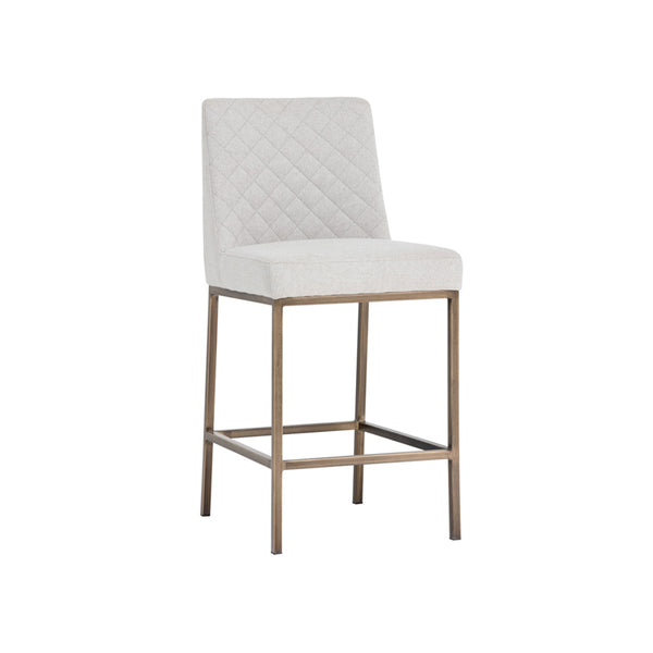 crown and birch leigh counter stool light grey angle
