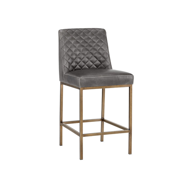 crown and birch leigh counter stool overcast grey angle