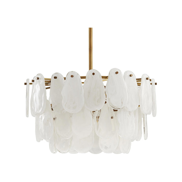 crown and birch leo chandelier antique brass front