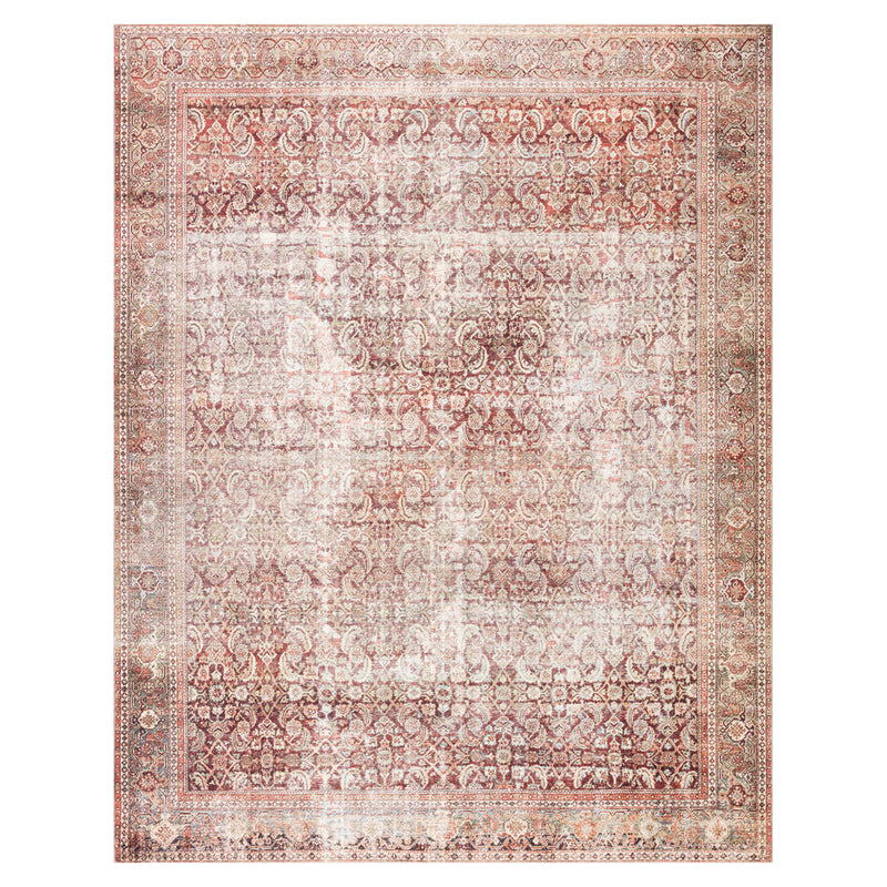 crown and birch leyla rug cinnamon sage front