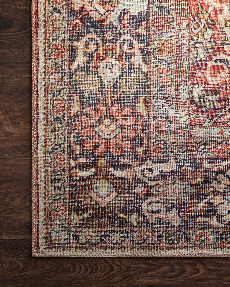 crown and birch leyla rug spice marine corner