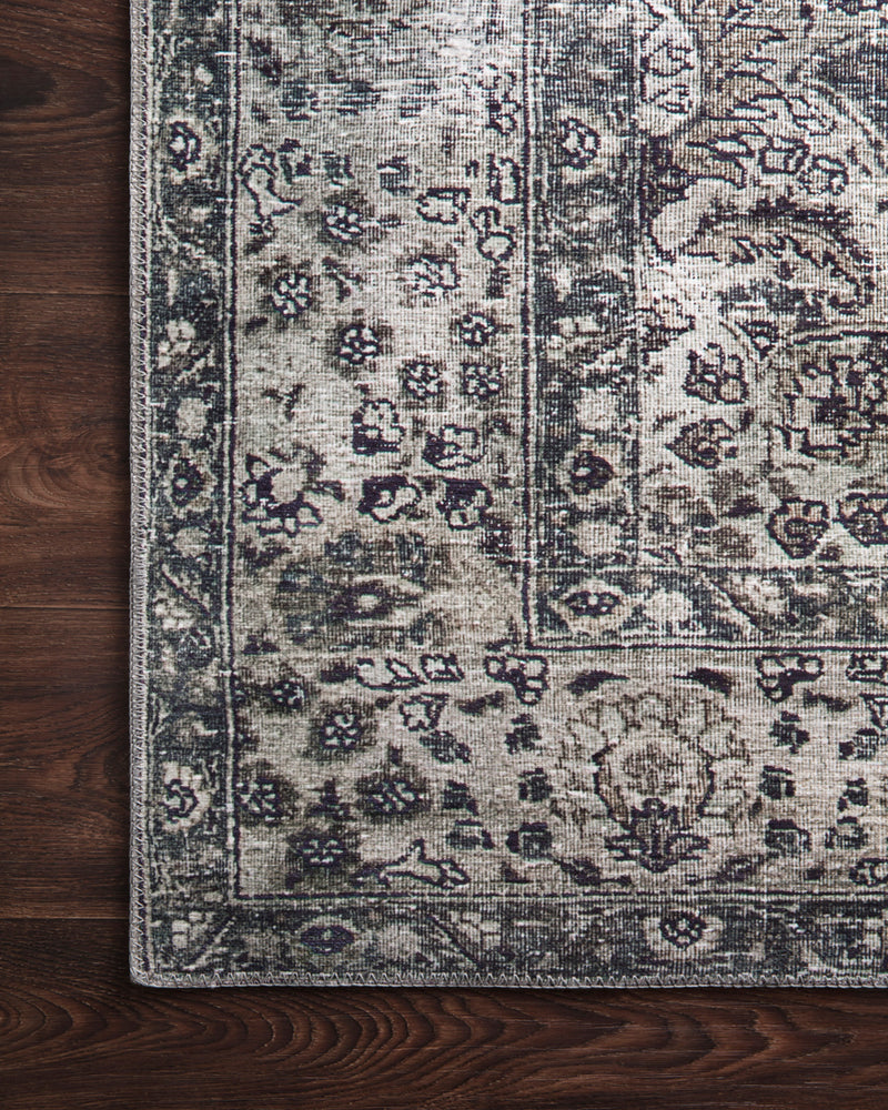 crown and birch leyla rug taupe stone corner