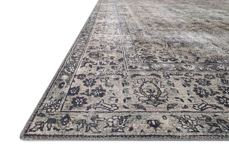 crown and birch leyla rug taupe stone detail