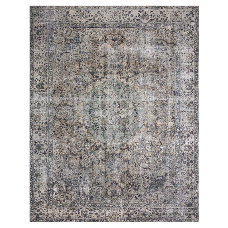 crown and birch leyla rug taupe stone front
