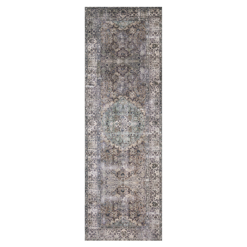 crown and birch leyla rug taupe stone runner