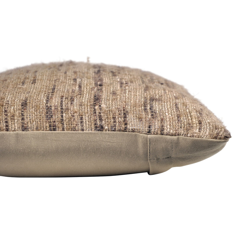 crown and birch libra brown multi knit lumbar pillow corner