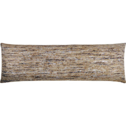 crown and birch libra brown multi knit lumbar pillow front