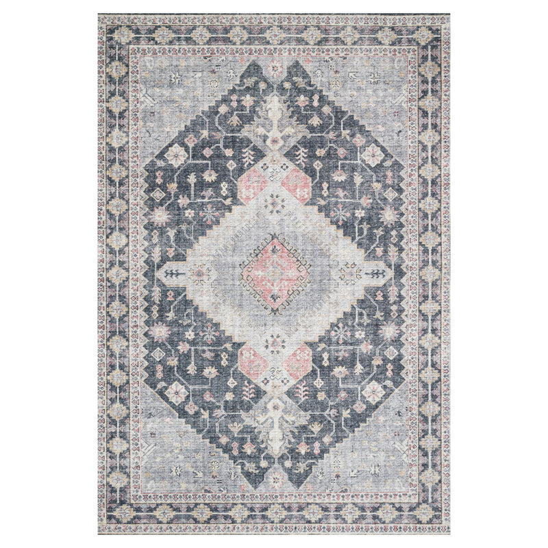 crown and birch liza rug charcoal multi front